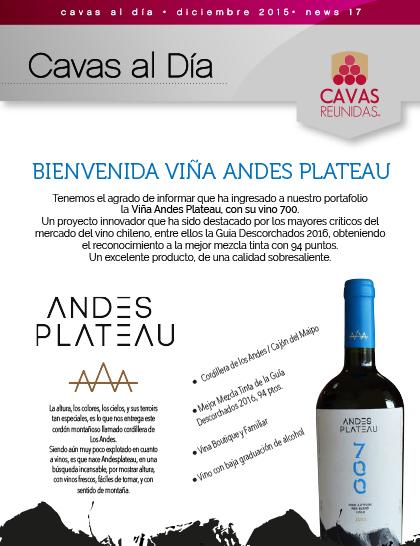 Bienvenida Viña Andes Plateau